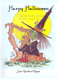 Harpy Halloween: 13 Spooktacular Songs for Pedal or Lever Harp with CD - Julie Gaisford Keyes