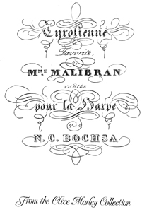 Tyrolienne Favorite de Mme Malibran - Arranged by N.C. Bochsa