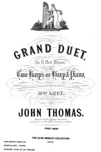 Grand Duet In E Flat Minor for Two Harps - Download -John Thomas