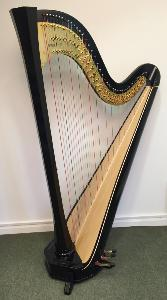 Amphion 47 Ebony Pedal Harp - with Dusty Strings Pickup