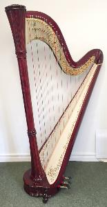 Diana 47 Pedal Harp in Mahogany Gloss - In Stock