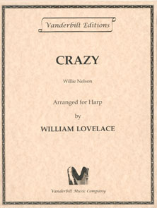 Crazy by Willie Nelson - Arranged for Harp by William Lovelace