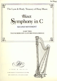 Symphony in C (2nd Mvt) For Harp Trio  - Georges Bizet