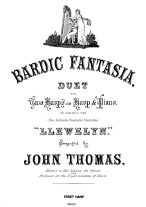 Bardic Fantasia Duet for 2 harps or harp and piano - Download John Thomas