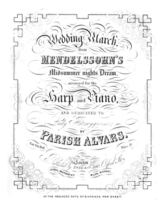 Wedding March (Mendelssohn) Duet - Parish Alvars