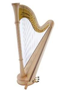 Orpheus 46 Natural Maple Pedal Harp - In Stock