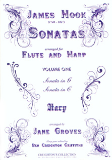 Sonatas  Volume 1 - James Hook, Arranged for Flute and Harp by Jane Groves