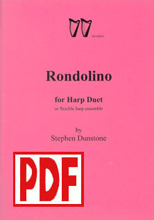 Rondolino for Harp Duet - Download - Stephen Dunstone