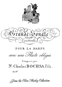 Grande Sonate Pastorale For Harp and Flute op.36 - Bochsa