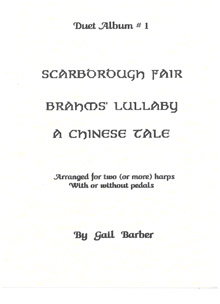 Duet Album No. 1 - Arranged for Two or More Harps by Gail Barber