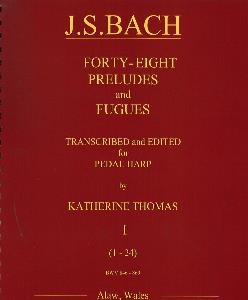 NEW 48 Preludes and Fugues Transcribed for Pedal Harp - J S Bach / Katherine Thomas