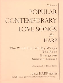 Popular Contemporary Love Songs for Harp Arranged by Daniel Burton