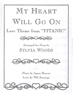 My Heart Will Go On: Love Theme from Titanic - Arranged for Harp by Sylvia Woods