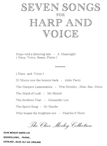 Seven Songs for Harp and Voice