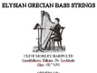 Grecian Bass Wires