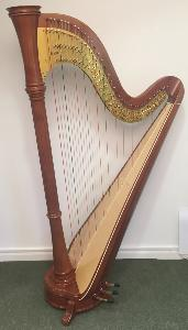 Orpheus 47 Pedal Harp in Light Mahogany Brown Polish - in Stock