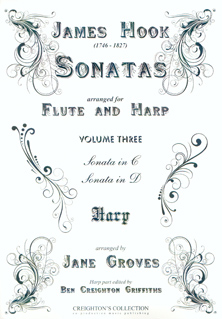 Sonatas  Volume 3 - James Hook, Arranged for Flute and Harp by Jane Groves