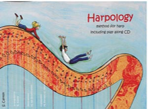 Harpology Method For Harp Including Play Along CD - S Canton Arrangements by R Kuhne
