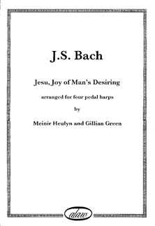 Jesu, Joy of Man's Desiring by J.S. Bach For Four Harps - Meinir Heulyn and Gillian Green