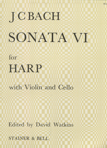 Sonata VI for Harp with Violin and Cello -  J. S. Bach / Edited by David Watkins