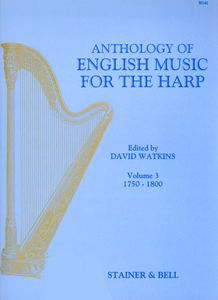 Anthology of English Music for the Harp Volume 3 - Edited David Watkins