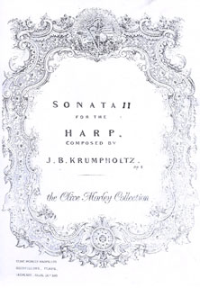 Sonata II and  XXII For Harp - J B Krumpholtz