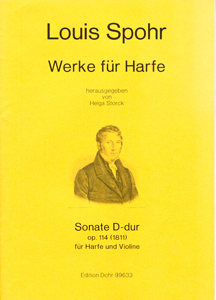 Sonate D Major - Op. 114 (1811) For Harp & Violin - Louis Spohr