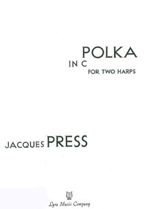 Polka in C For Two Harps - Jacques Press