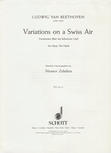 Variations On A Swiss Air for Harp - Ludwig Van Beethoven