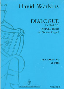 Dialogue for Harp and Harpsichord (or Piano or Organ) - David Watkins
