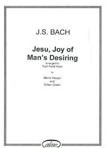 Jesu, Joy of Man's Desiring by J.S. Bach For Eight Harps - Meinir Heulyn and Gillian Green