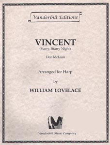 Vincent - Don Mclean, Arranged by William Lovelace
