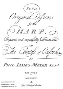 Four Original Lessons For The Harp - Download -Philip James Meyer