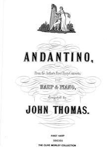 Andantino for Two Harps or Harp and Piano - Download - John Thomas