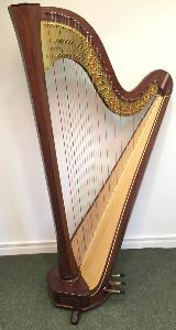 Amphion 47 Pedal Harp in Walnut