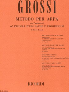 Method for Harp - Maria Grossi AND 65 Easy and Progressive Studies - Ettore Pozzoli