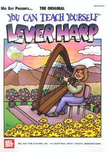 Mel Bay's You Can Teach Yourself Lever Harp with CD - Laurie Riley and Beth Kollé