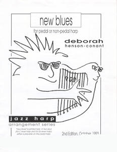 New Blues For Pedal or Non-Pedal Harp - Deborah Henson-Conant