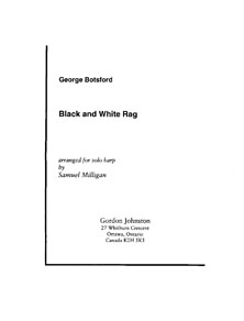 Black and White Rag by George Botsford - Arranged for Harp by Samuel Milligan