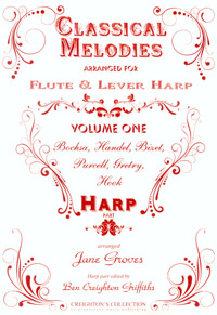 Classical Melodies Arranged for Flute and Lever Harp Vol 1 - Jane Groves