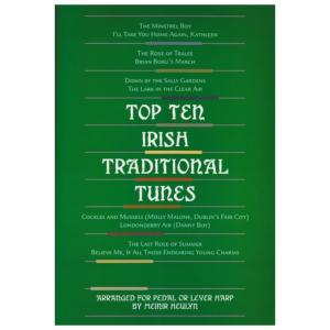Top Ten Irish Traditional Tunes - Arranged for Pedal or Lever Harp by Meinir Heulyn