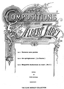 Compositions Pour la Harpe, Vol 1 - Download - Albert Zabel