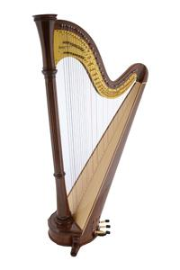 Orpheus 47 Walnut Pedal Harp (Arabesque) - In Stock