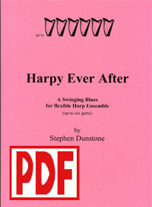 Harpy Ever After - Download : A Swinging Blues for Flexible Harp Ensemble - Stephen Dunstone
