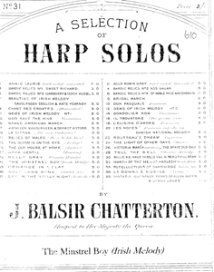 The Minstrel Boy - Arranged by J Balsir Chatterton
