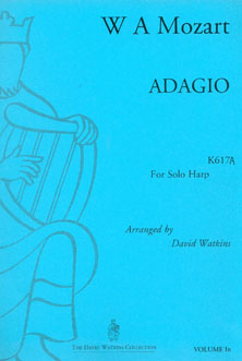 Adagio K617A by W. A. Mozart for Solo Harp - Arranged by David Watkins