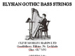 Gothic Bass Strings