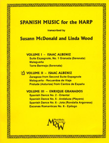 Spanish Music for the Harp II: Issac Albeniz, Arranged by Susann McDonald and Linda Wood
