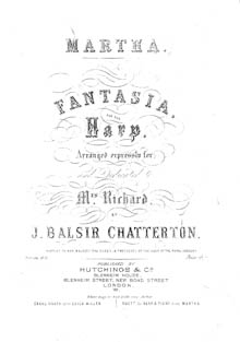 Martha: Fantasia for the Harp - J Balsir Chatterton
