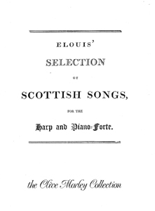 Elouis' Selection of Scottish Songs for the Harp and Piano